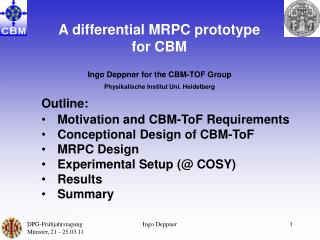 A differential MRPC prototype for CBM
