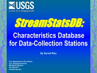 StreamStatsDB: Characteristics Database for Data-Collection Stations
