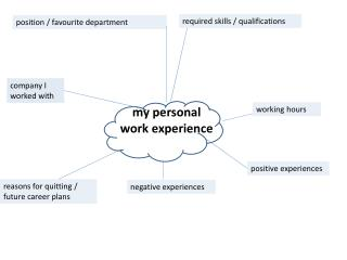 my personal  work experience