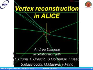 Vertex reconstruction in ALICE
