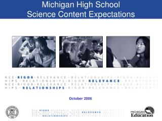 Michigan High School  Science Content Expectations