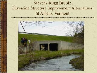 Stevens-Rugg Brook: Diversion Structure Improvement Alternatives St Albans, Vermont