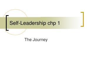 Self-Leadership chp 1