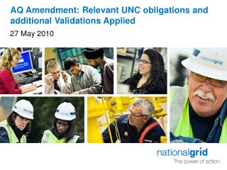 AQ Amendment: Relevant UNC obligations and additional Validations Applied