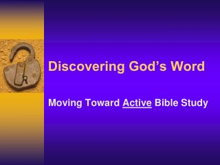Discovering God's Word