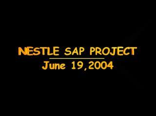 Nestlé USA's SAP project