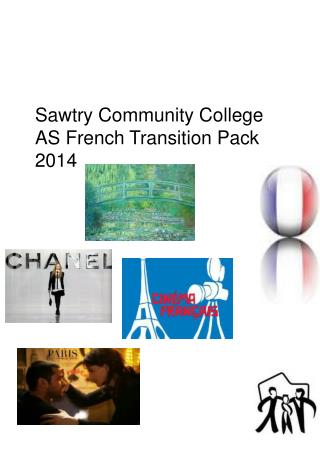 Sawtry Community College AS French Transition Pack 2014