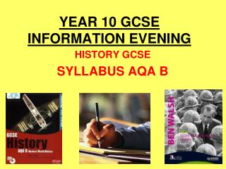 YEAR 10 GCSE   INFORMATION EVENING