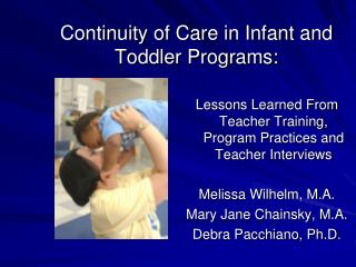 Continuity of Care in Infant and Toddler Programs: