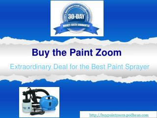 Paint Zoom - The best Portable Power Paint Sprayer