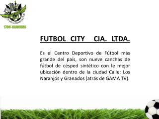 TARIFAS FUTBOL CITY