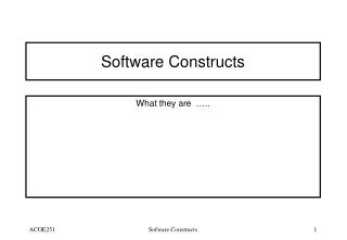 Software Constructs