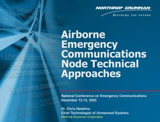 Airborne Emergency Communications Node Technical Approaches