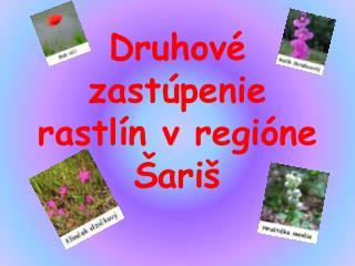Druhové zastúpenie rastlín v regióne Šariš