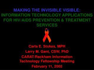 Carla E. Stokes, MPH Larry M. Gant, CSW, PhD