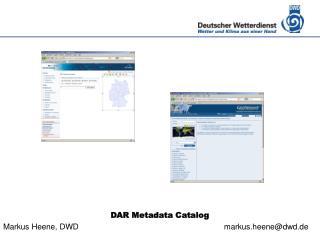 DAR Metadata Catalog