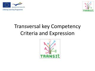 Transversal key Competency C riteria and  E xpression