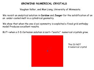 GROWING NUMERICAL CRYSTALS