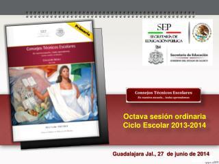 Octava sesión ordinaria Ciclo Escolar 2013-2014