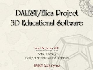 In This Presentation ... Software in Math learning
