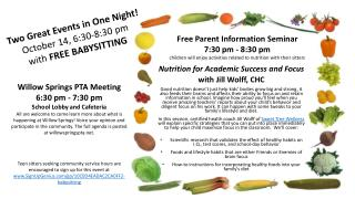 Nutrition for Academic Success and Focus with  Jill Wolff, CHC