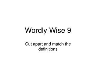 Wordly Wise Slide Show