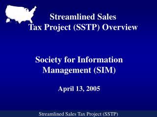 Streamlined Sales Tax Project (SSTP)