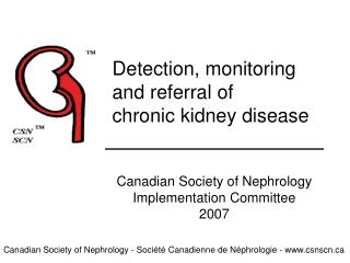 Detection, monitoring and referral of chronic kidney disease