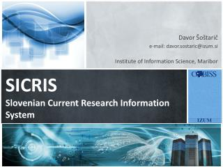 SICRIS Slovenian Current Research Information System