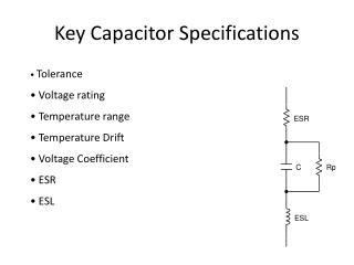 Key Capacitor Specifications