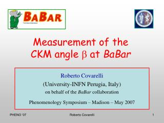 Measurement of the CKM angle  b  at  BaBar
