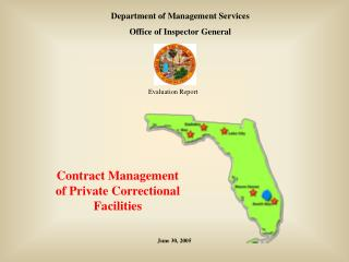 Contract Management of Private Correctional Facilities