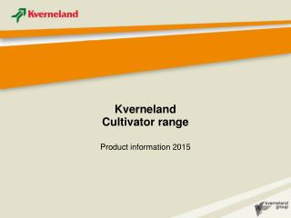 Kverneland Cultivator range