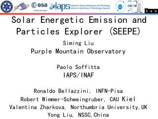 Siming Liu Purple Mountain Observatory Paolo Soffitta  IAPS/INAF Ronaldo Bellazzini, INFN-Pisa