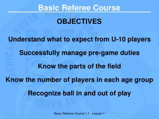 Basic Referee PowerPoint