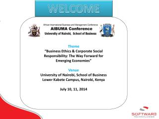 "Theme ""Business Ethics & Corporate Social Responsibility: The Way Forward for  Emerging Economies"""