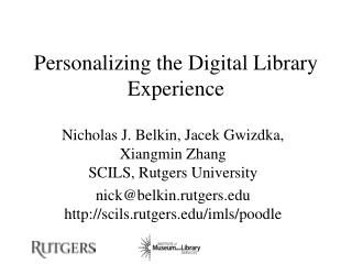 Personalizing the Digital Library Experience