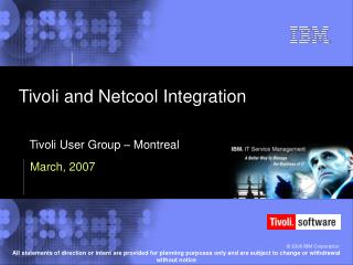 Tivoli and Netcool Integration