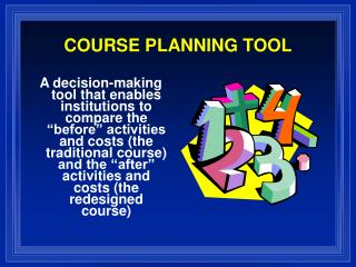 COURSE PLANNING TOOL