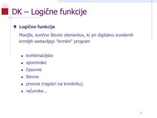 DK – Logične funkcije