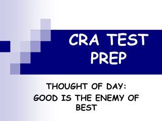 CRA TEST PREP