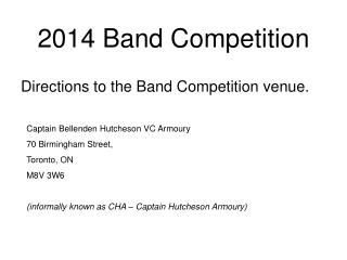 2014 Band Competition