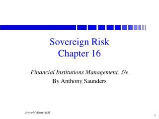 Sovereign Risk Chapter 16