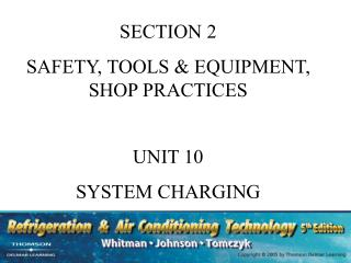 SECTION 2 SAFETY, TOOLS & EQUIPMENT, SHOP PRACTICES UNIT 10 SYSTEM CHARGING
