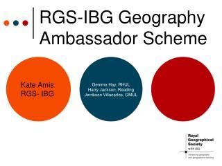 RGS-IBG Geography Ambassador Scheme
