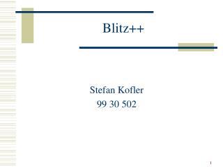 Blitz++