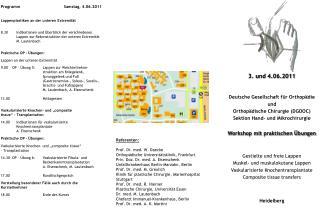 Deutsche Gesellschaft für Orthopädie und  Orthopädische Chirurgie (DGOOC)