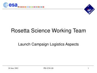 Rosetta Science Working Team