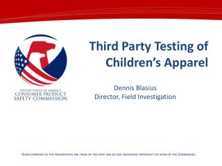 Third Party Testing of Children's Apparel