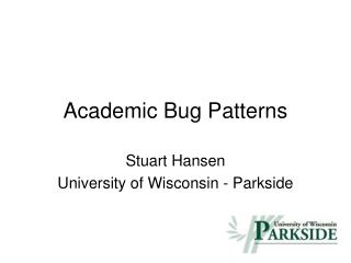 Academic Bug Patterns